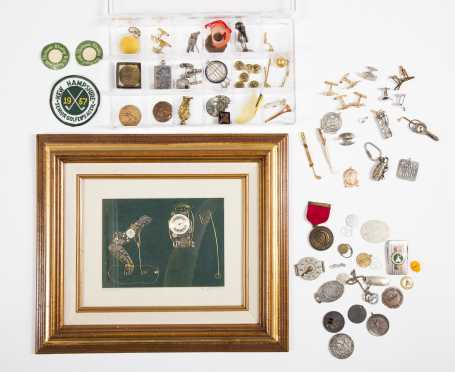 Expansive Lot of Golf Medals, Jewelry, Commemorative Items