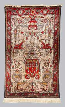 Cotton and Wool Persian Tribal Scatter Oriental Rug