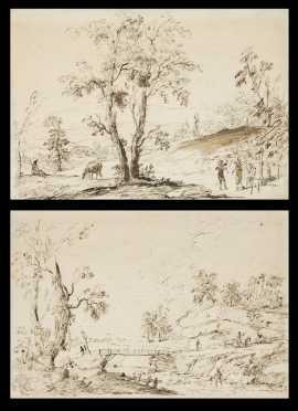 Pair of Old Master Spanish School Drawings