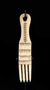 Inuit Carved Walrus Ivory Comb