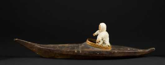 Inuit Kayak with a Figure