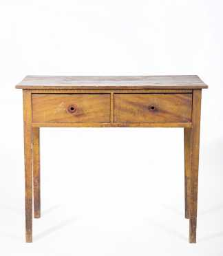Grain Painted Two Drawer Hepplewhite Serving Table