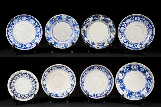 Lot of Eight Dedham Pottery Plates