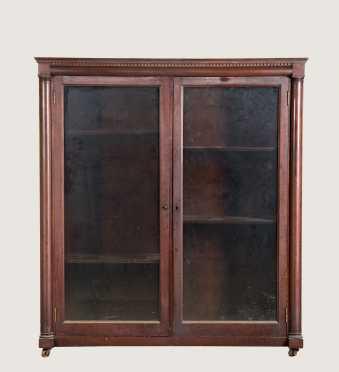 Mahogany Double Glazed Door Bookcase