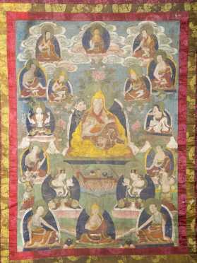 A fine Tibetan Thanka