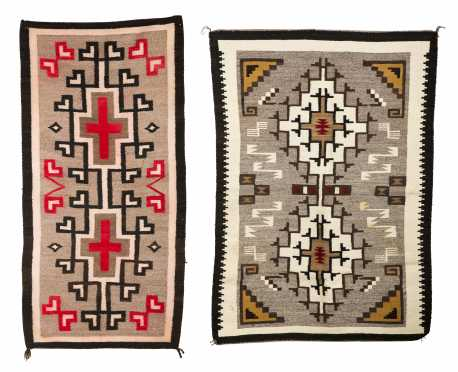 Two Navajo Scatter Size Woven Rugs