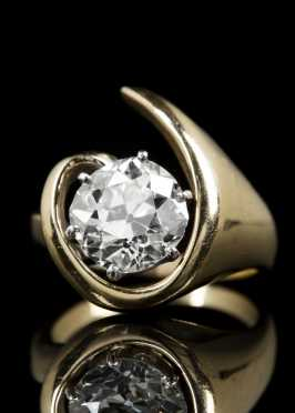 Diamond Solitaire 3.53ct. and 14kt. Gold