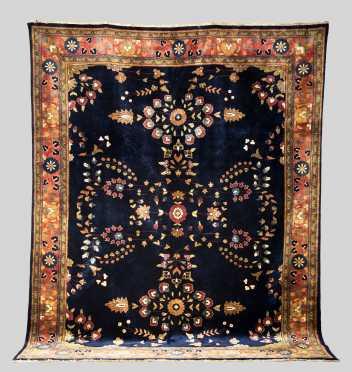 Indo Sarouk Room Size Oriental Rug