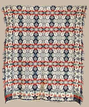 Michael Franz Miami County Ohio 1840 Coverlet