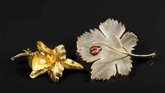 Two Decorative Brooches