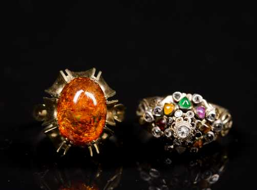 Two 14kt. and Gemstone Rings