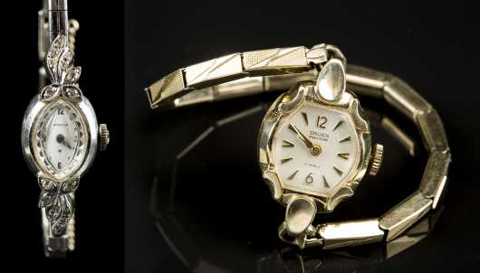 Two Old Watches, 14kt. marked