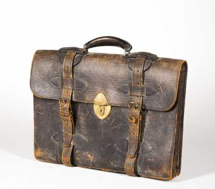 Leather Briefcase Owned by Franklin D Roosevelt