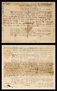 [Massachusetts History] - Two early Colonial Massachusetts Legal Documents