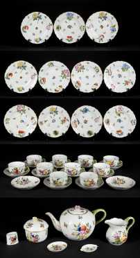 39 Piece Herend Porcelain Tea Set
