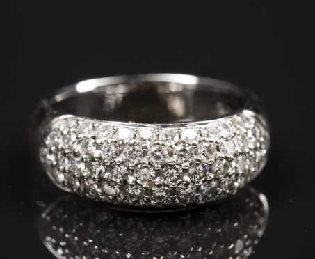 18kt. White Gold Pav�© Diamond Dome Ring