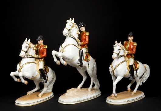 Austrian Porcelain Equine Figures