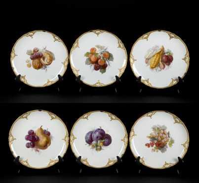 6 KPM Porcelain Plates