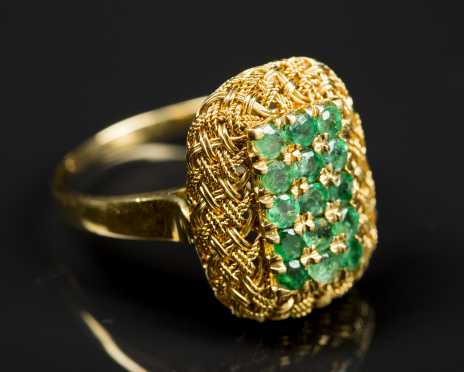 18kt. and Emerald Ring