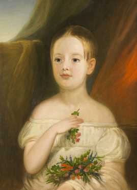 American 19thC Portrait of a Young Girl