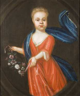 18thC Portrait Painting of a Child