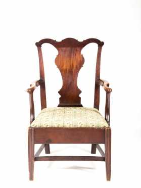 Virginia/Maryland Mahogany Chippendale Armchair