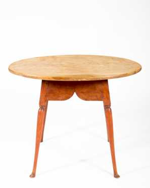NE Oval Top Four Way Splay Leg Tea Table
