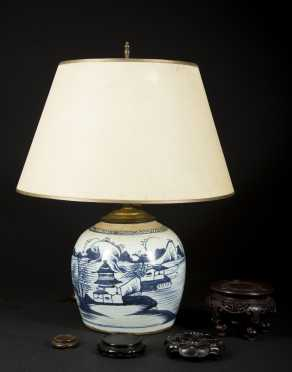 Chinese Ginger Jar and Stand