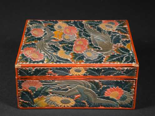 Chinese Lacquer Ware Covered Box