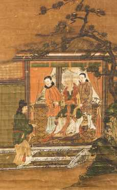 Chinese Scroll Oil Painting