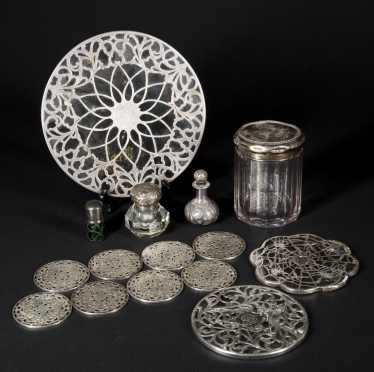 15 Silver and Glass Objects