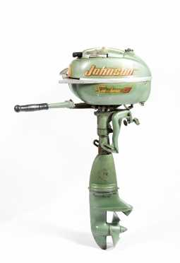 "Johnson ""Sea Horse 5"" Outboard Gasoline Motor"