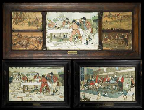 Three English Hunt Scene Prints
