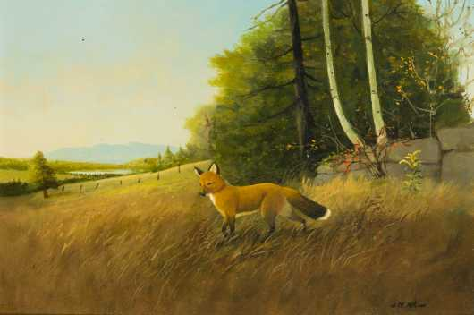 Primitive Painting of a Fox