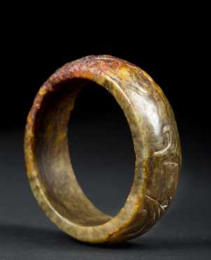 Hardstone Relief Carved Bangle