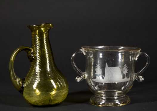 Two Early Glass Vessels