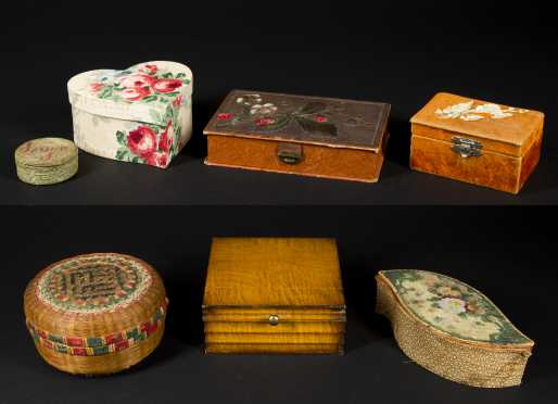 Lot of Sewing Boxes and Miscellaneous