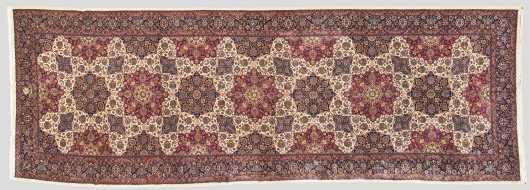 Persian Mashad Corridor Oriental Rug