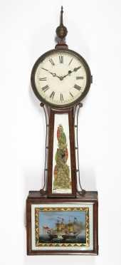 NE E19thC Banjo Wall Clock