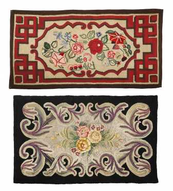 Two Frost Pattern Hooked Rugs