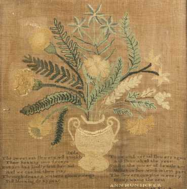 Ann Hunsicker Needlework Theorem Vase of Flowers