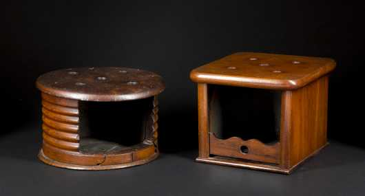 Two Early Virginia Wooden Foot Warmers