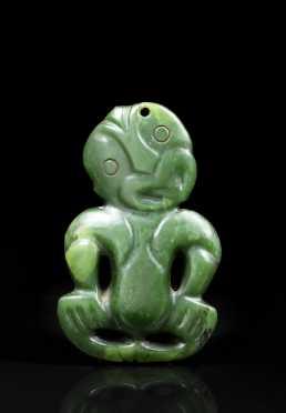 A Fine and Rare Maori Nephrite Tiki