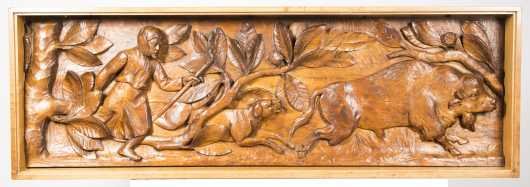 Unknown Wood Bas-Relief Carving