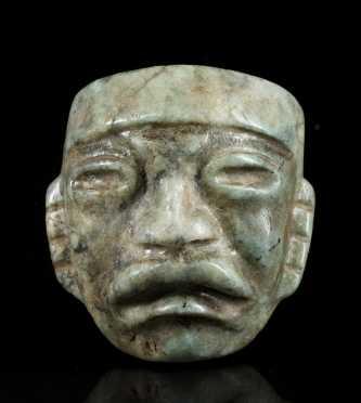 A Fine Olmec Jadeite Maskette