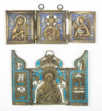 Three Russian Folding Icons