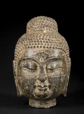 A Stone Chinese Head of the Buddha