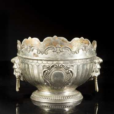 Chinese Export Silver/Paktong Monteith Style Bowl