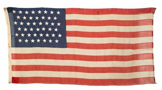45 Star Linen Flag