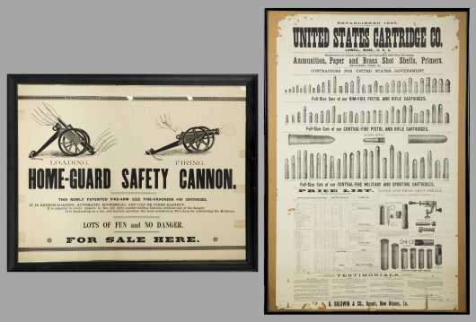 Two Broadsides: US Cartridge Co and Home Guard Safety Cannon